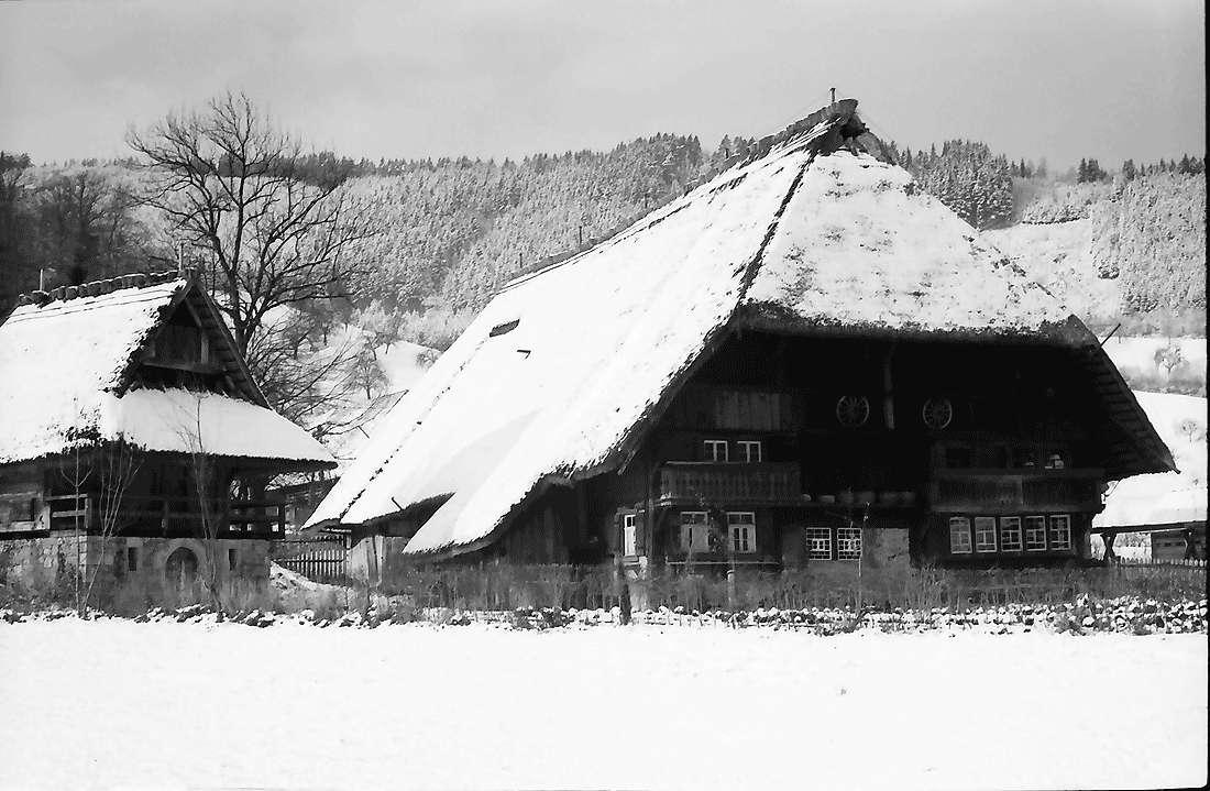 Gutach: Vogtsbauernhof; Freilichtmuseum im Schnee, Bild 1