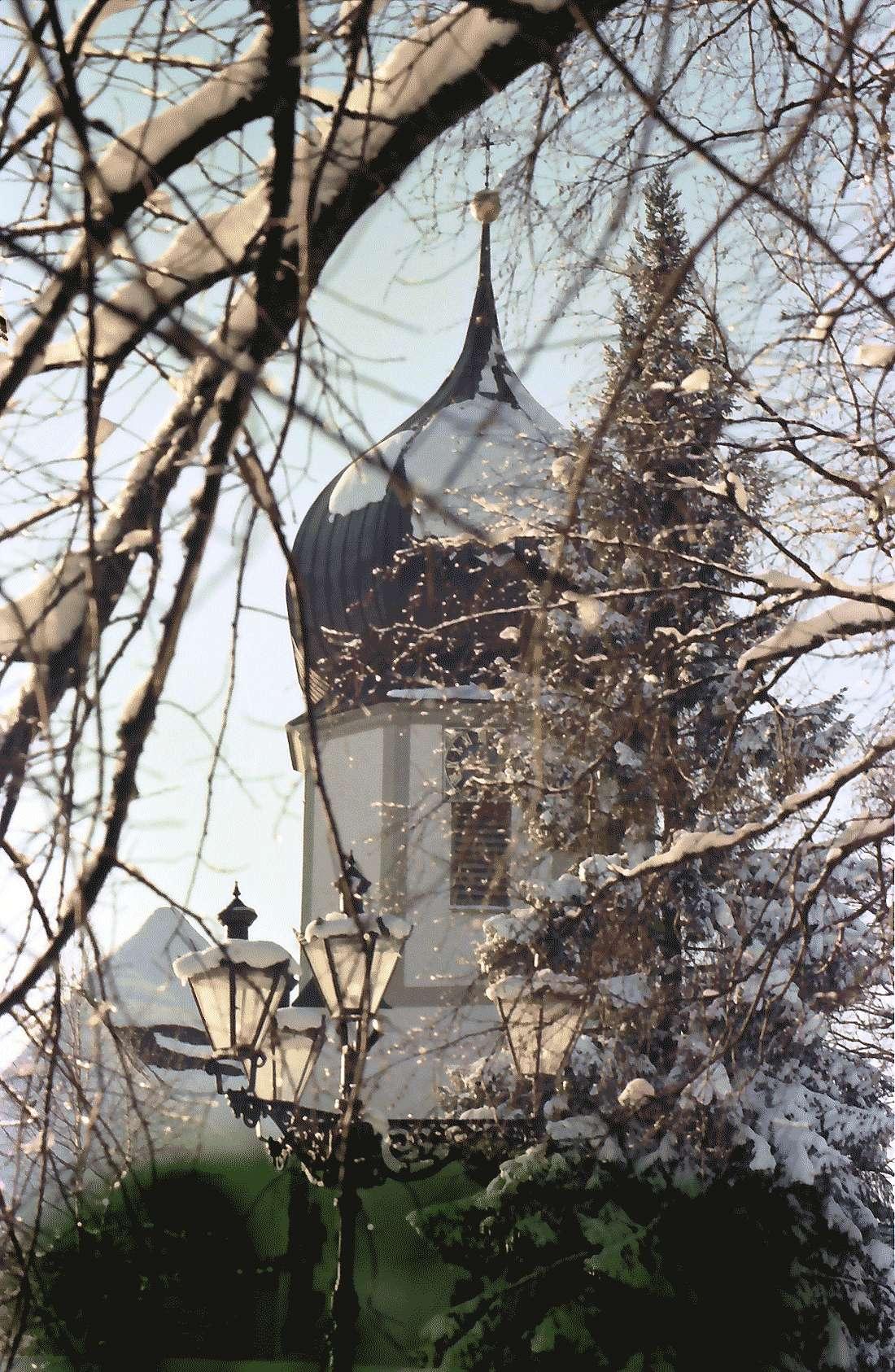 Hinterzarten: Pfarrkirche; Zwiebelhaube, Bild 1