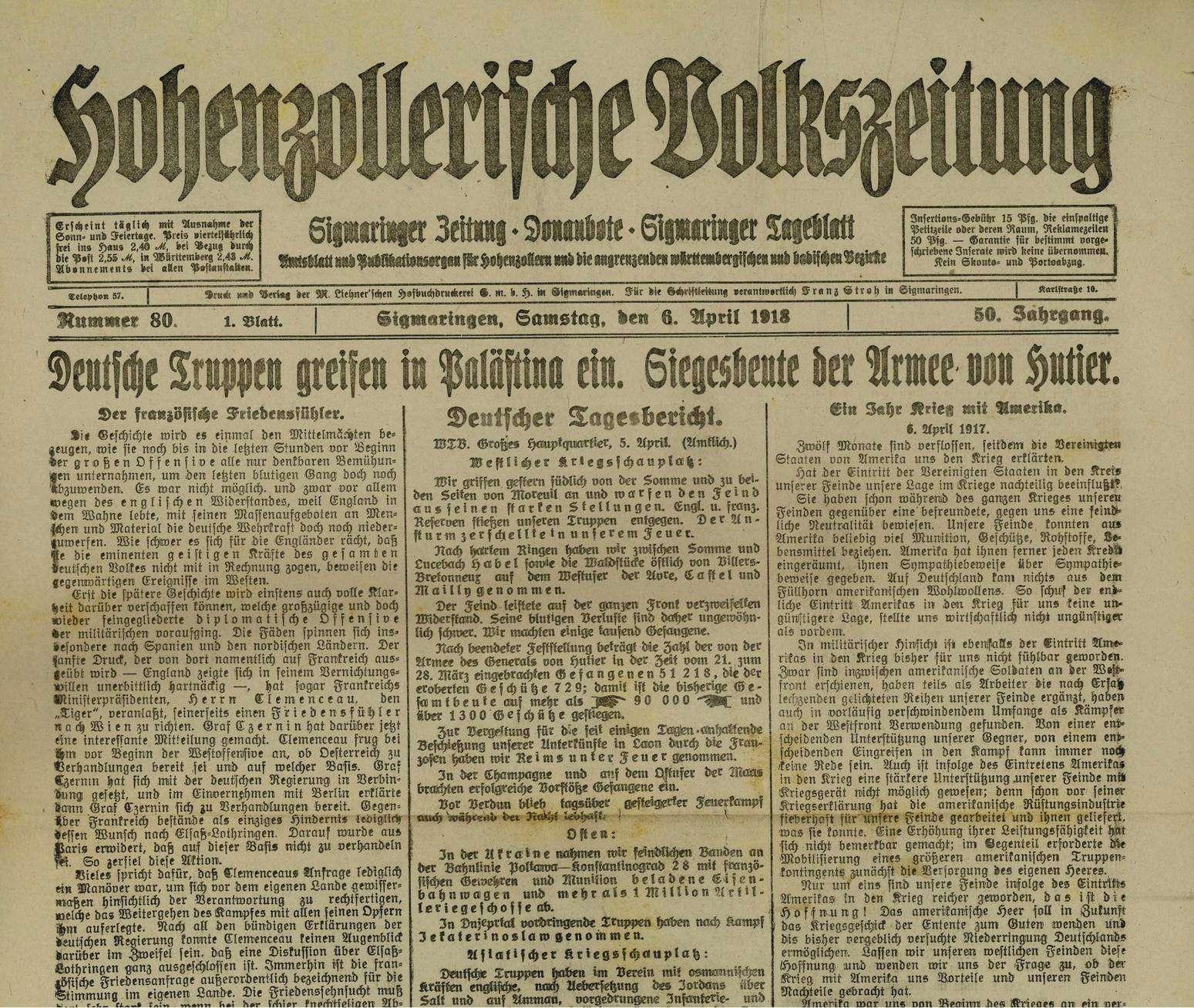 Pressezensur im Ersten Weltkrieg, Bild 1
