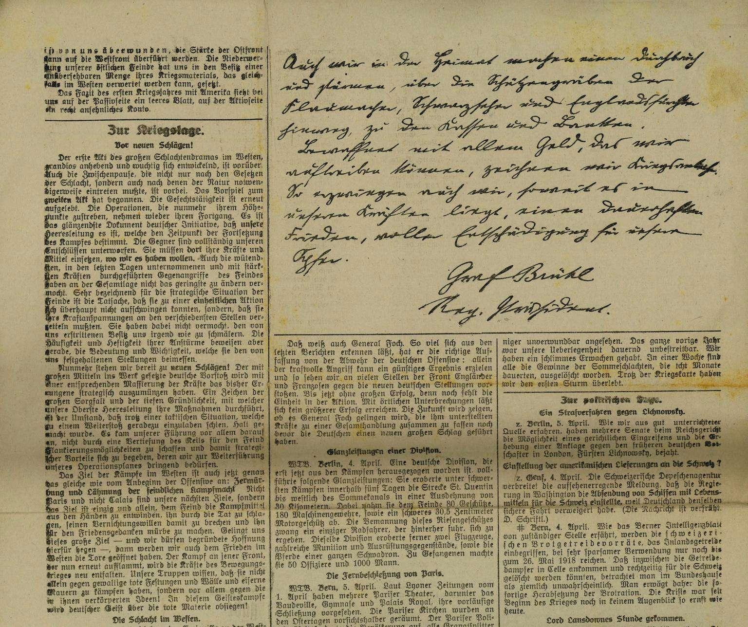 Pressezensur im Ersten Weltkrieg, Bild 3