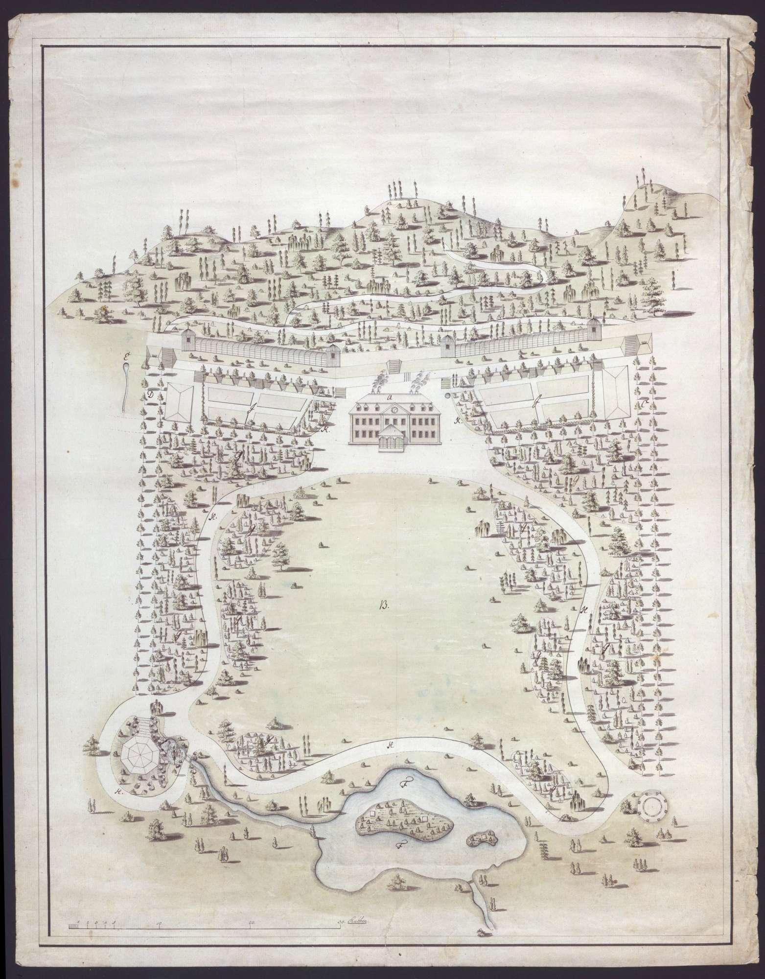 Entwurf für die Anlage des Bades in Imnau, Bild 1
