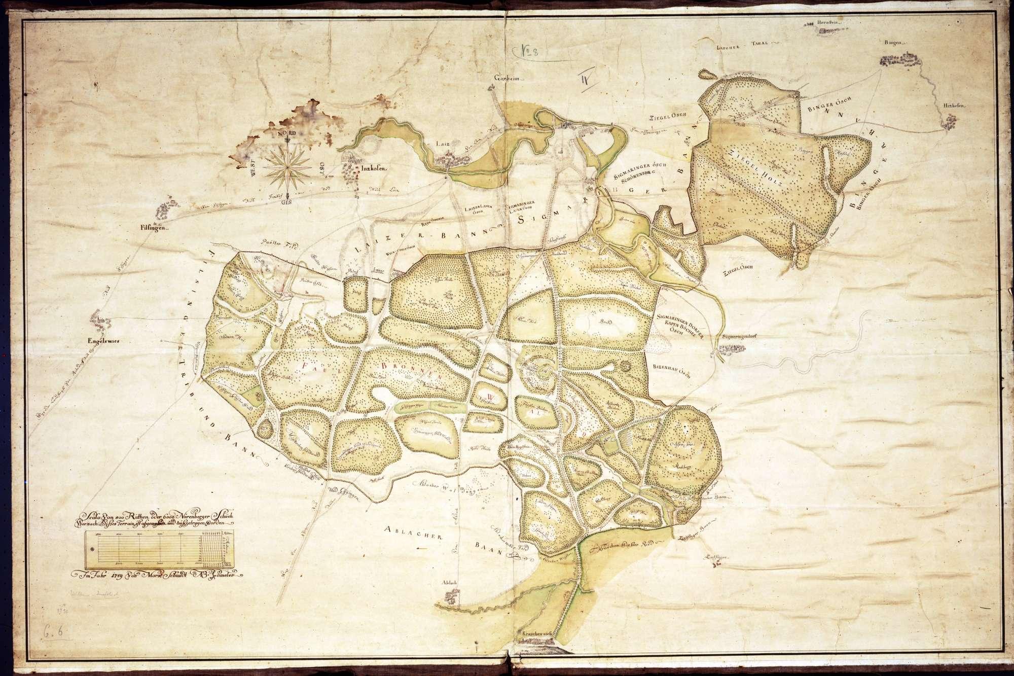 Karte vom Fürstlichen Tierpark Josefslust, Bild 1