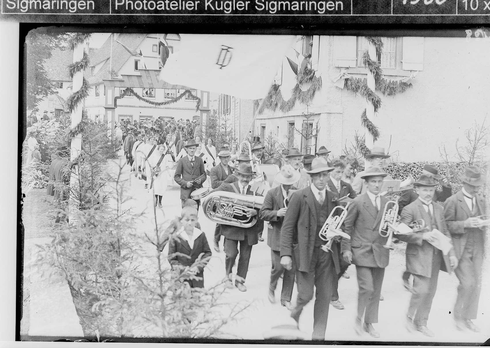 Gauturnfest des Turngaus Hohenzollern in Sigmaringendorf; Musikkapelle, Bild 1