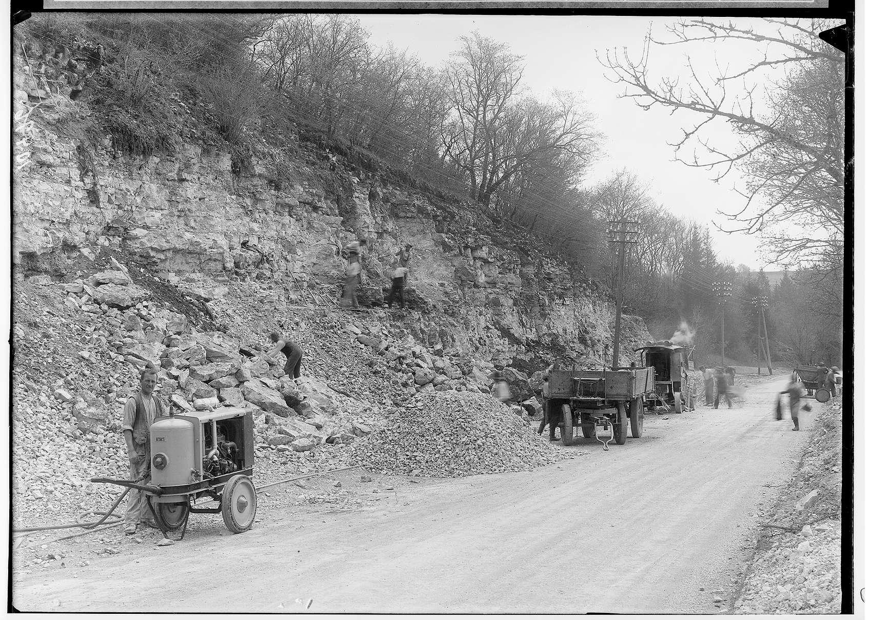 Bau der Straße nach Jungnau durch die Firma Deutschmann 1936, Bild 1