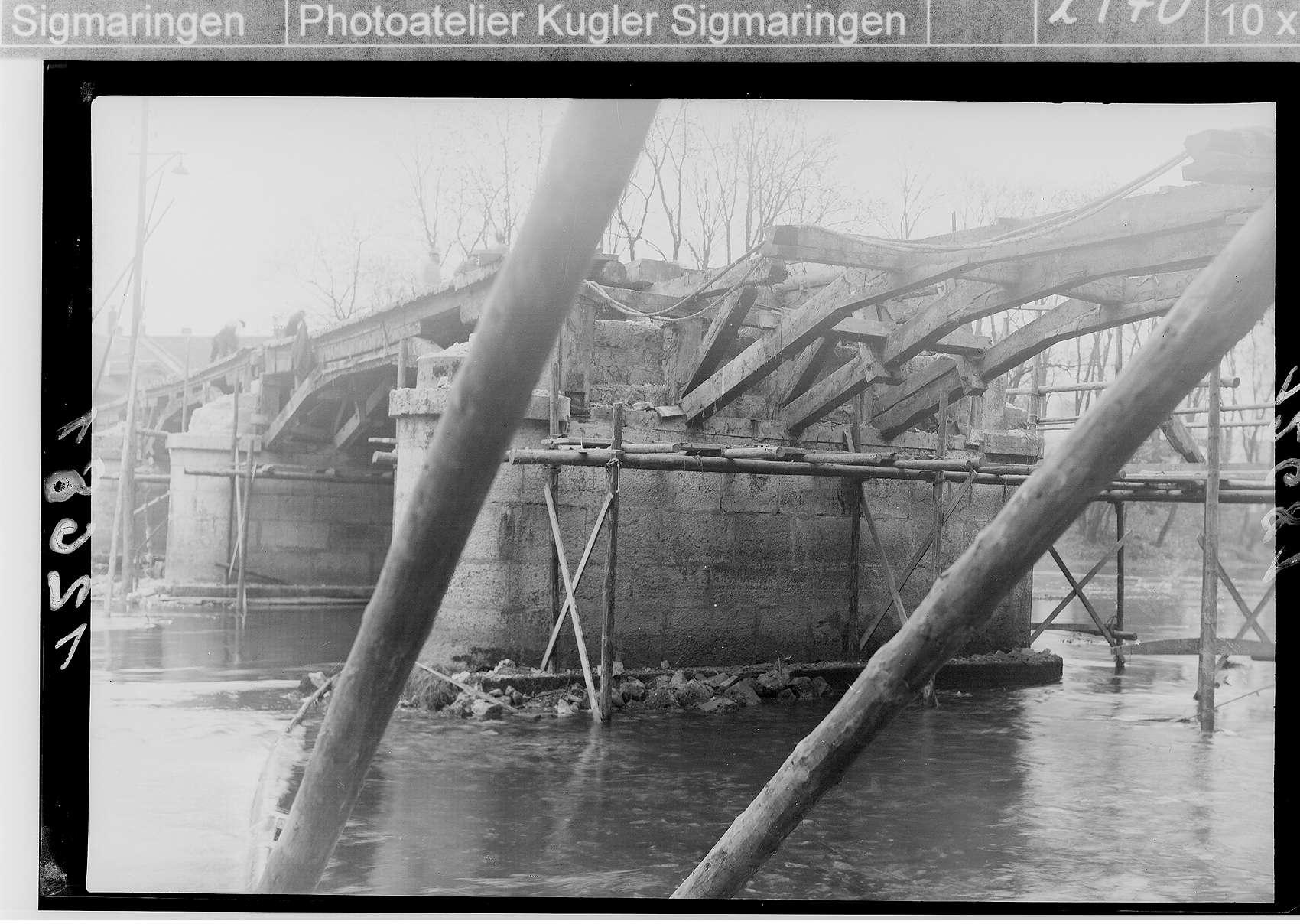Landesbauamt Sigmaringen - Umbau der Nepomukbrücke (Bauhofbrücke); Brückenunterseite, Bild 1