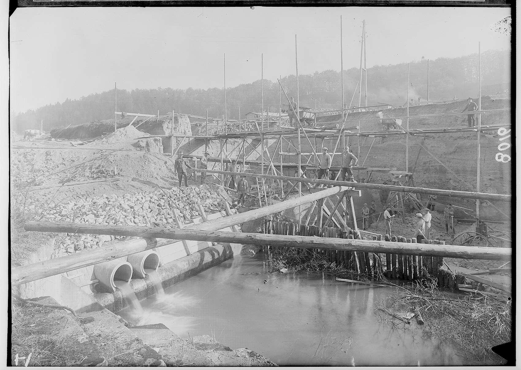 Erbauung des Werkkanals der Papierfabrik in Scheer, Bild 1