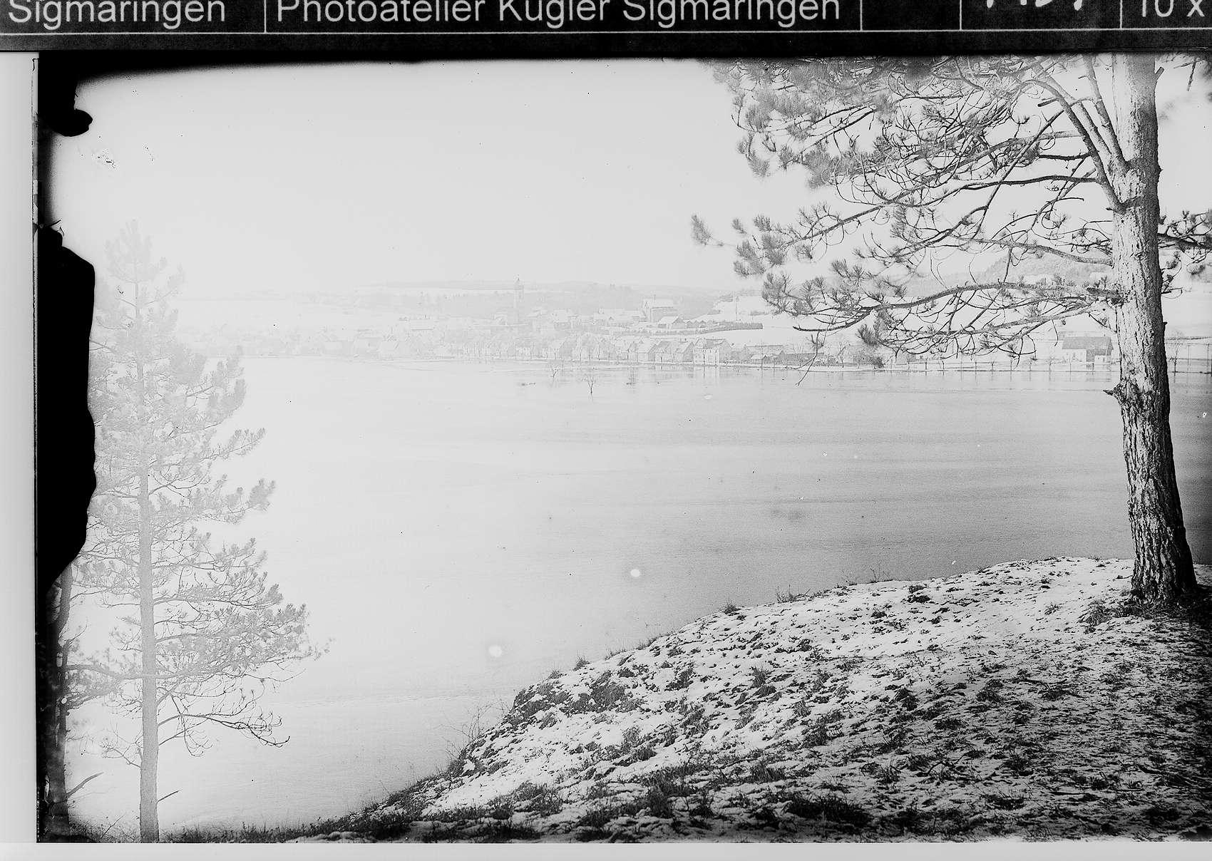 Donauhochwasser in Scheer, Bild 1