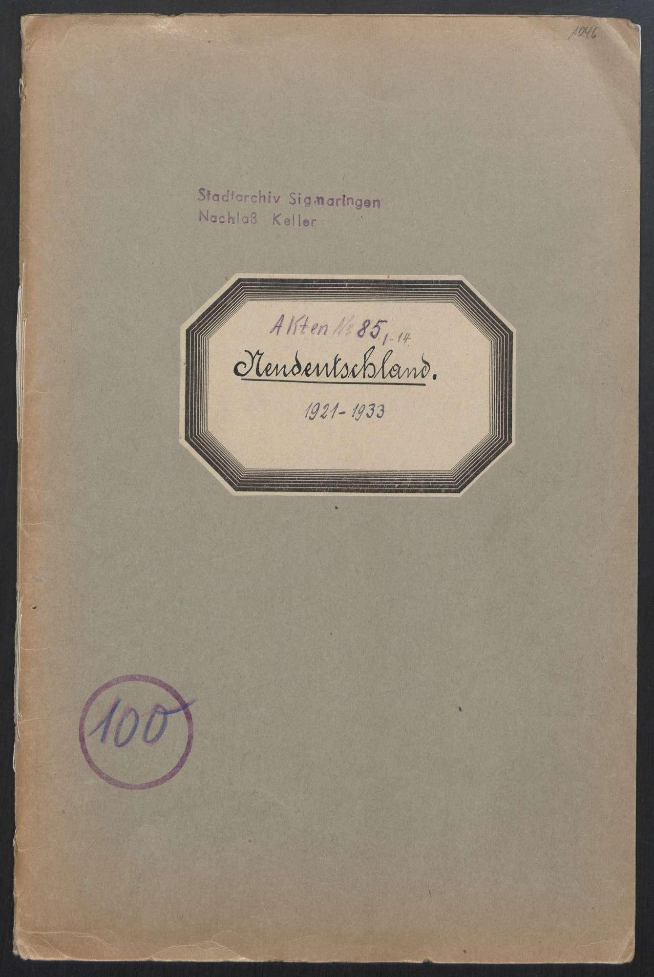 Jugendverein Neu-Deutschland (1921 - 1932), Bild 1