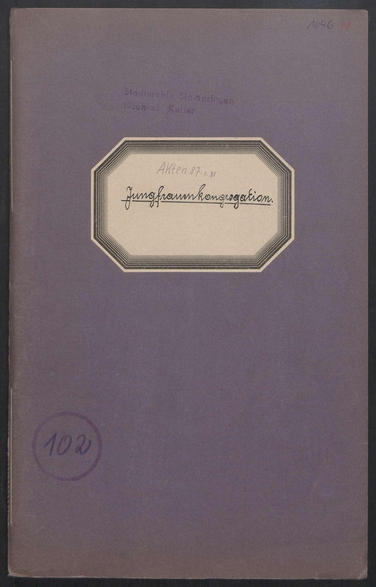 Jungfrauenkongregation (1850 - 1946), Bild 1