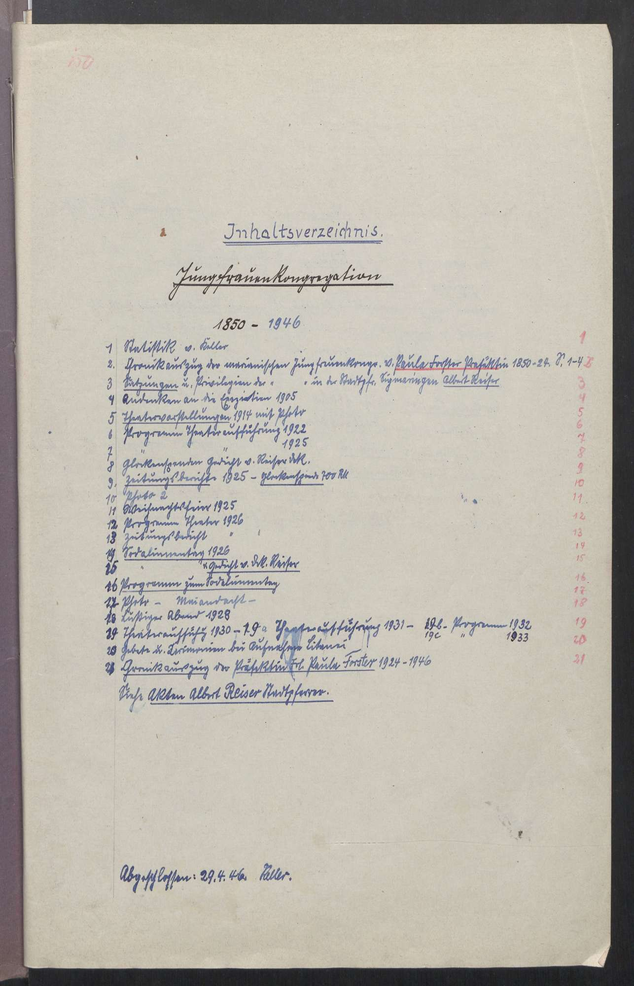 Jungfrauenkongregation (1850 - 1946), Bild 2