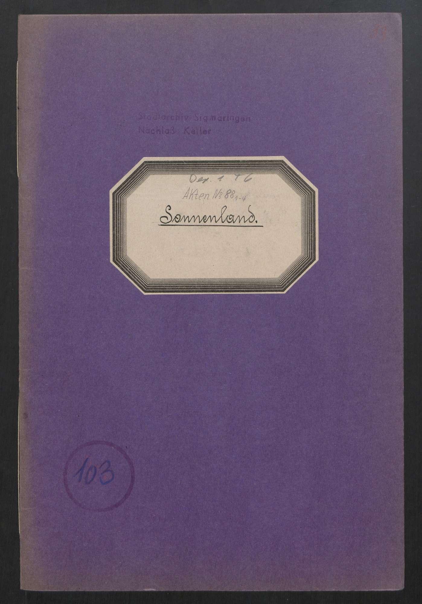 Jugendverein Sonnenland (1916 - 1933), Bild 1