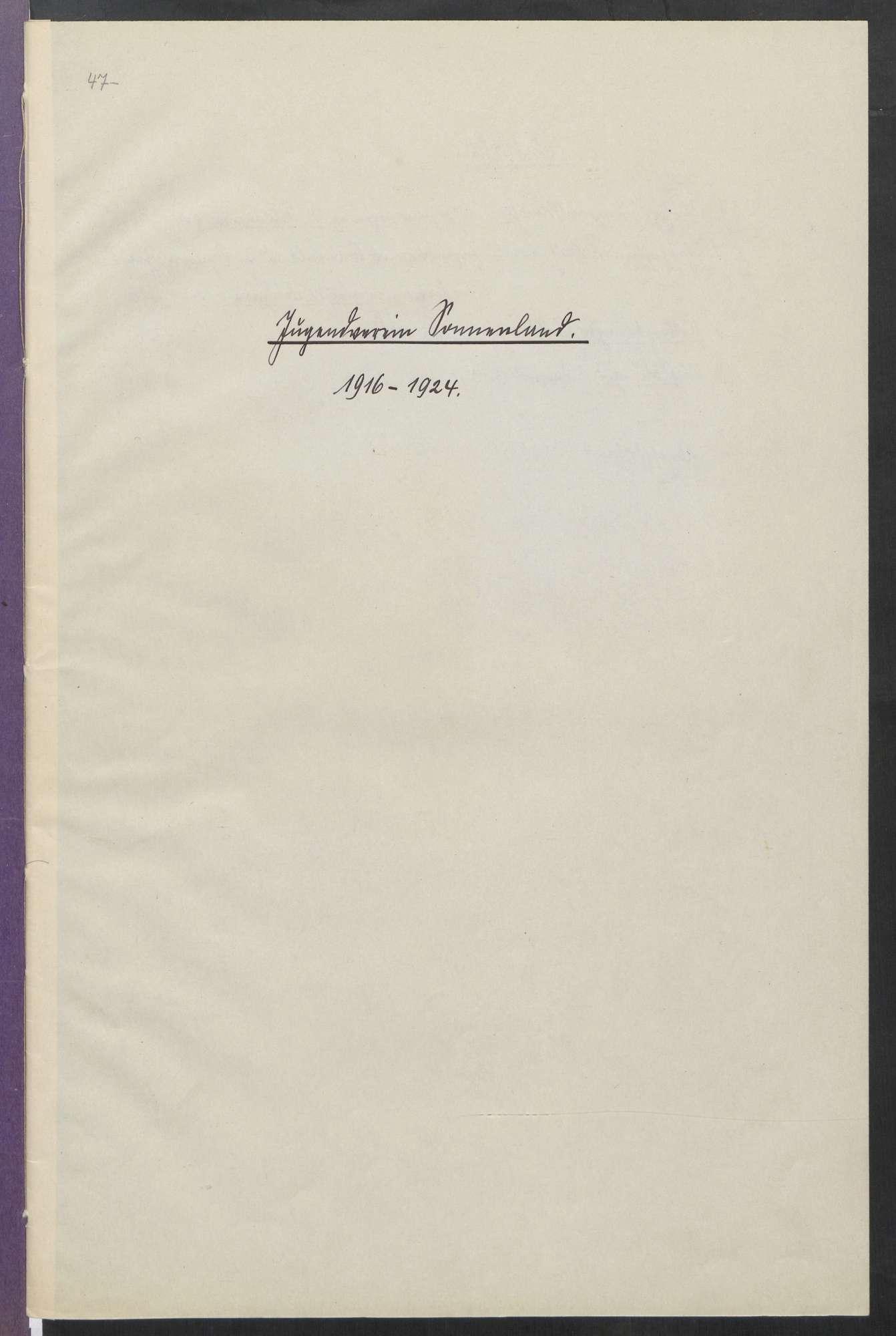 Jugendverein Sonnenland (1916 - 1933), Bild 2