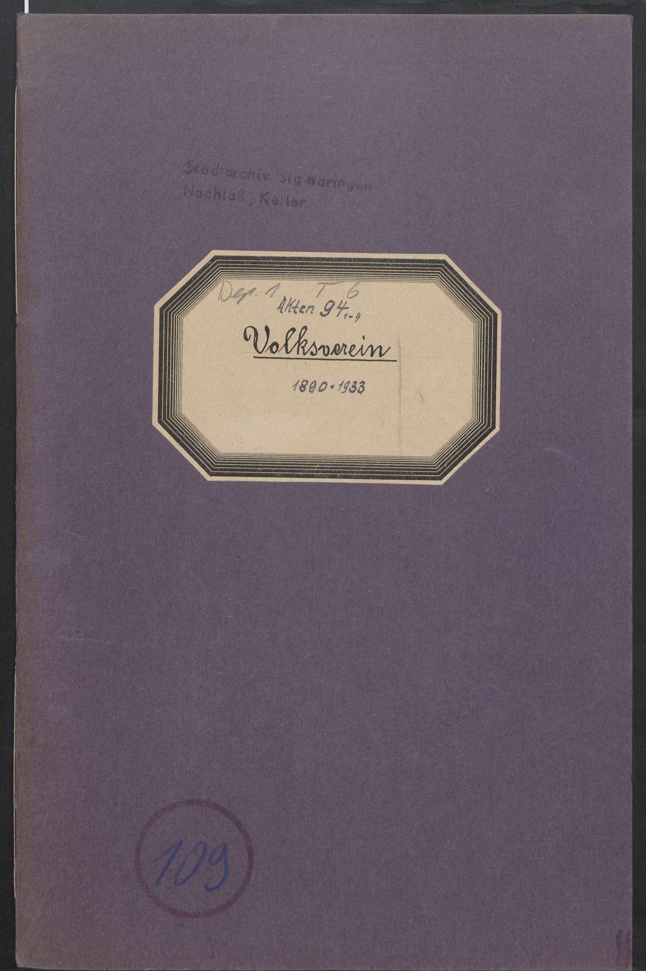Volksverein (1890 - 1933), Bild 1