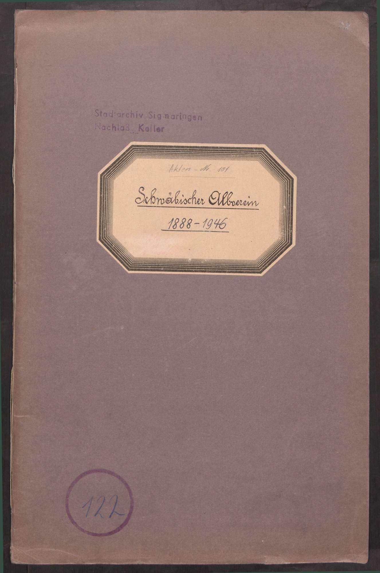 Schwäbischer Albverein (1888 - 1946), Bild 1