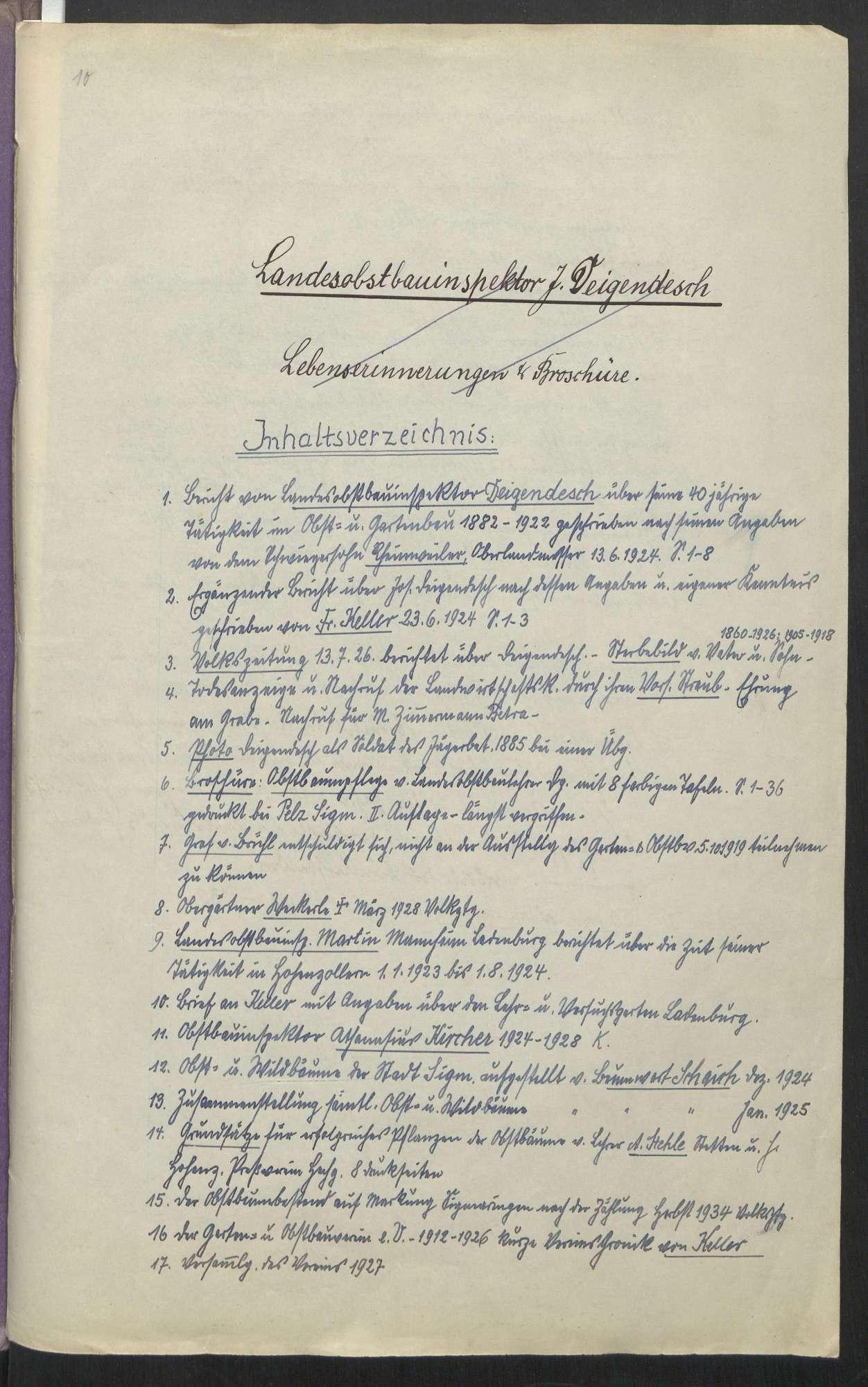 Garten- und Obstbau in Sigmaringen u. a. m. (1880 - 1946), Bild 2