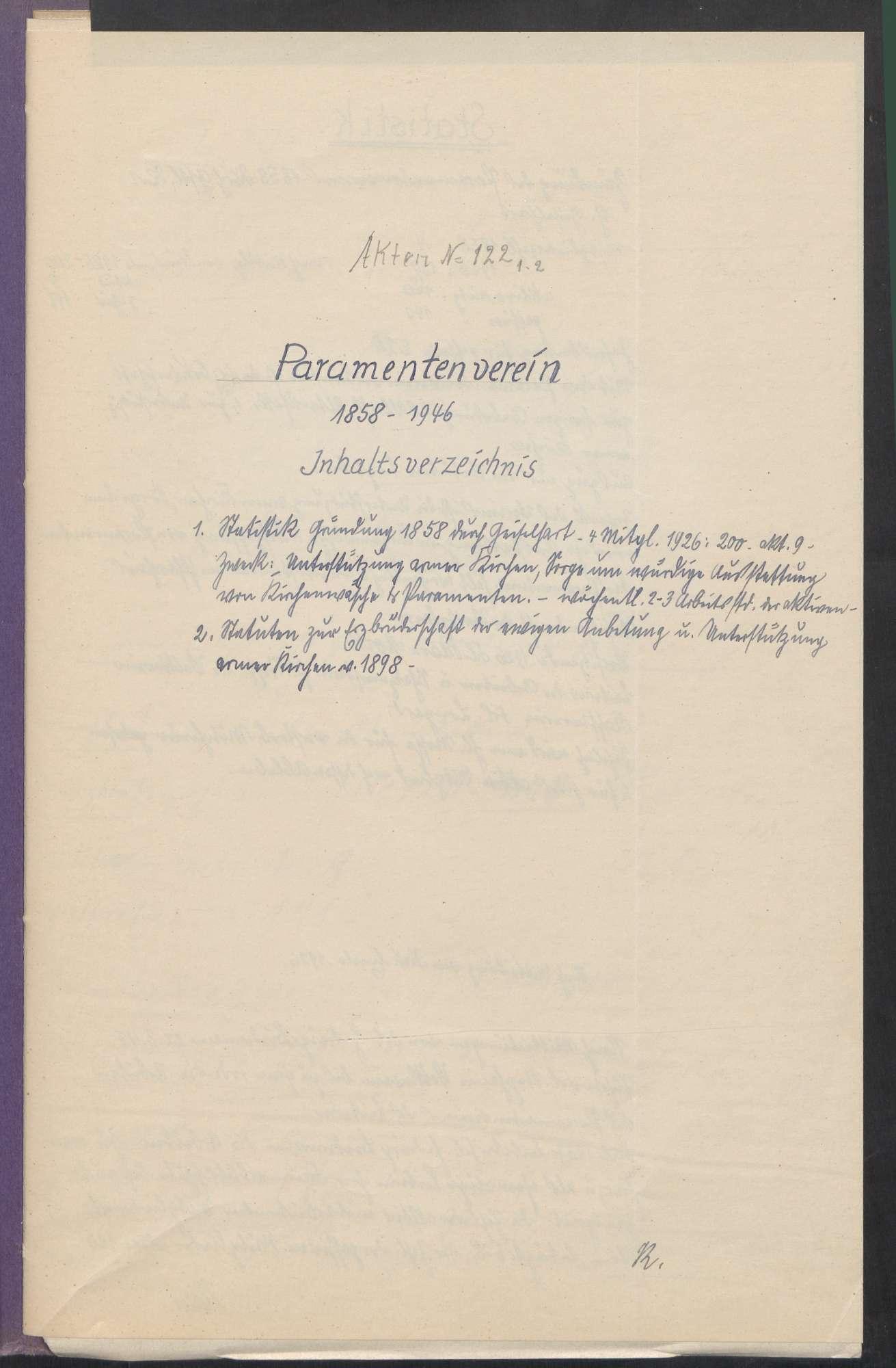 Paramentenverein (1858 - 1946), Bild 3