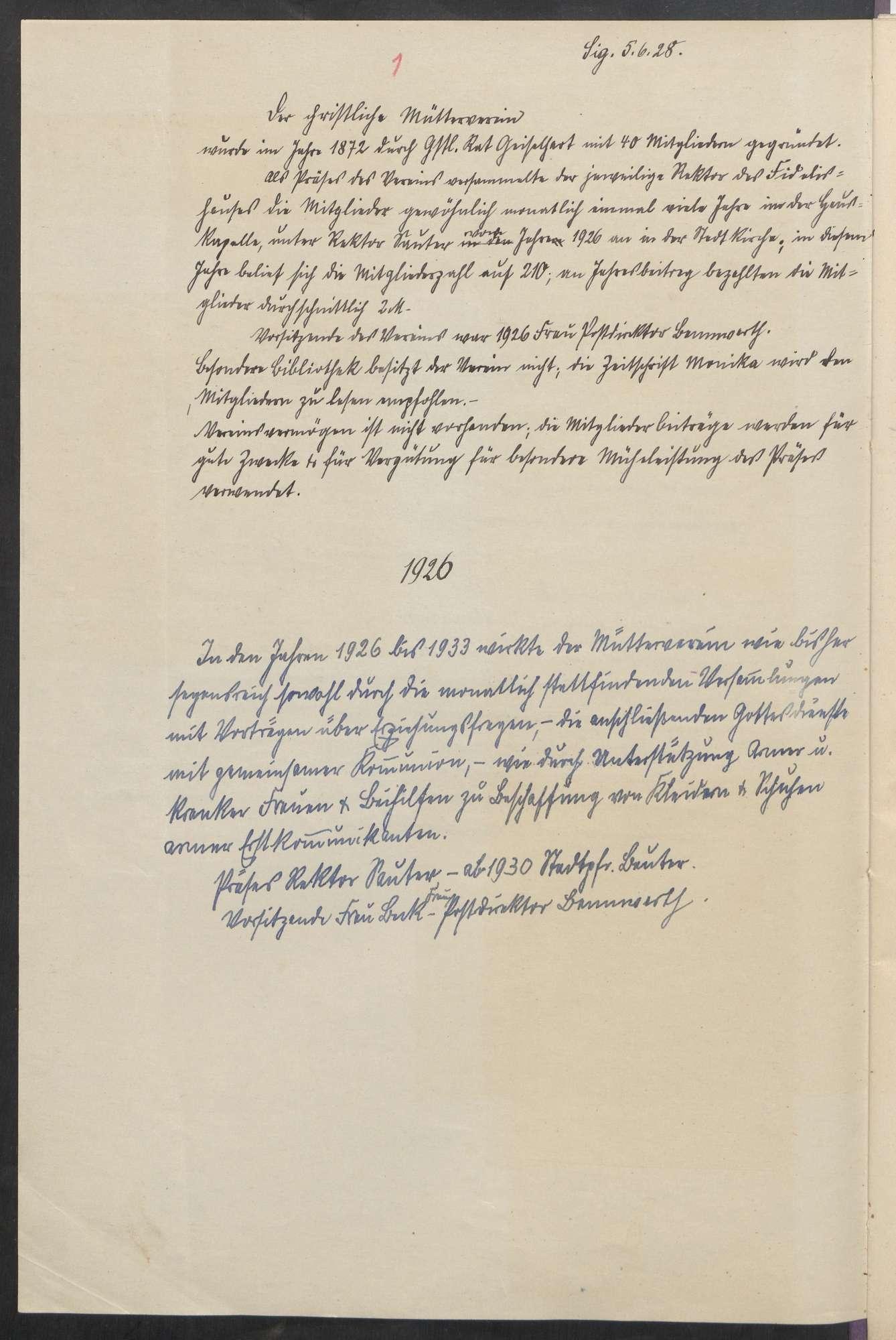 Christlicher Mütterverein (1872 - 1947), Bild 3