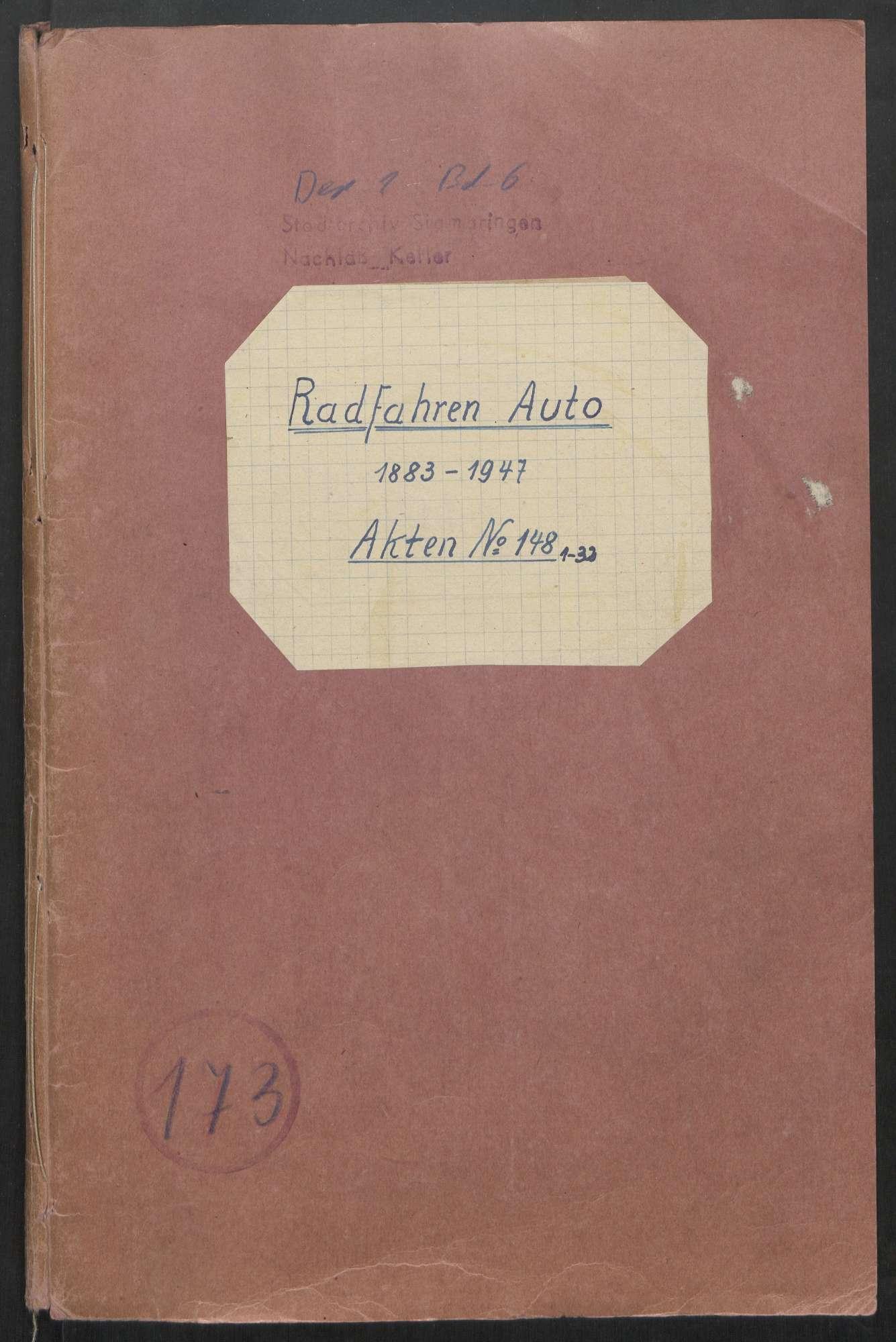 Radfahren - Auto (1883 - 1947), Bild 1