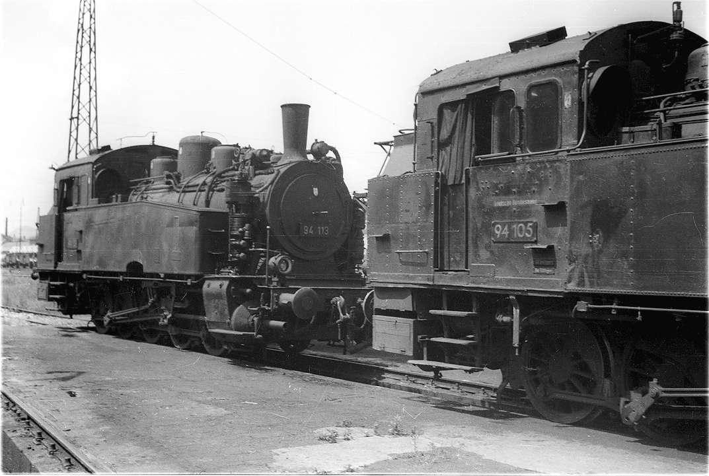 Reutlingen, Rangierloks der Baureihe 94, wenig später durch Dieselloks ersetzt, Bild 1