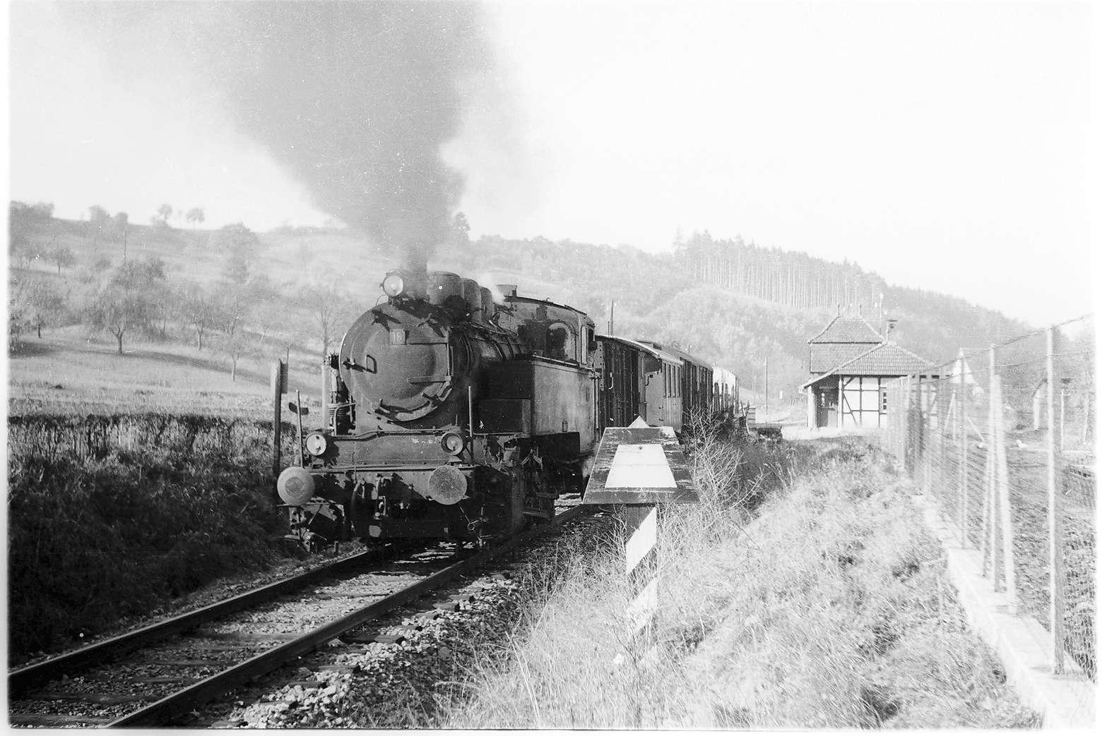 Bahnhof Stein, erbaut 1912, Abbruch 1974, Bild 1