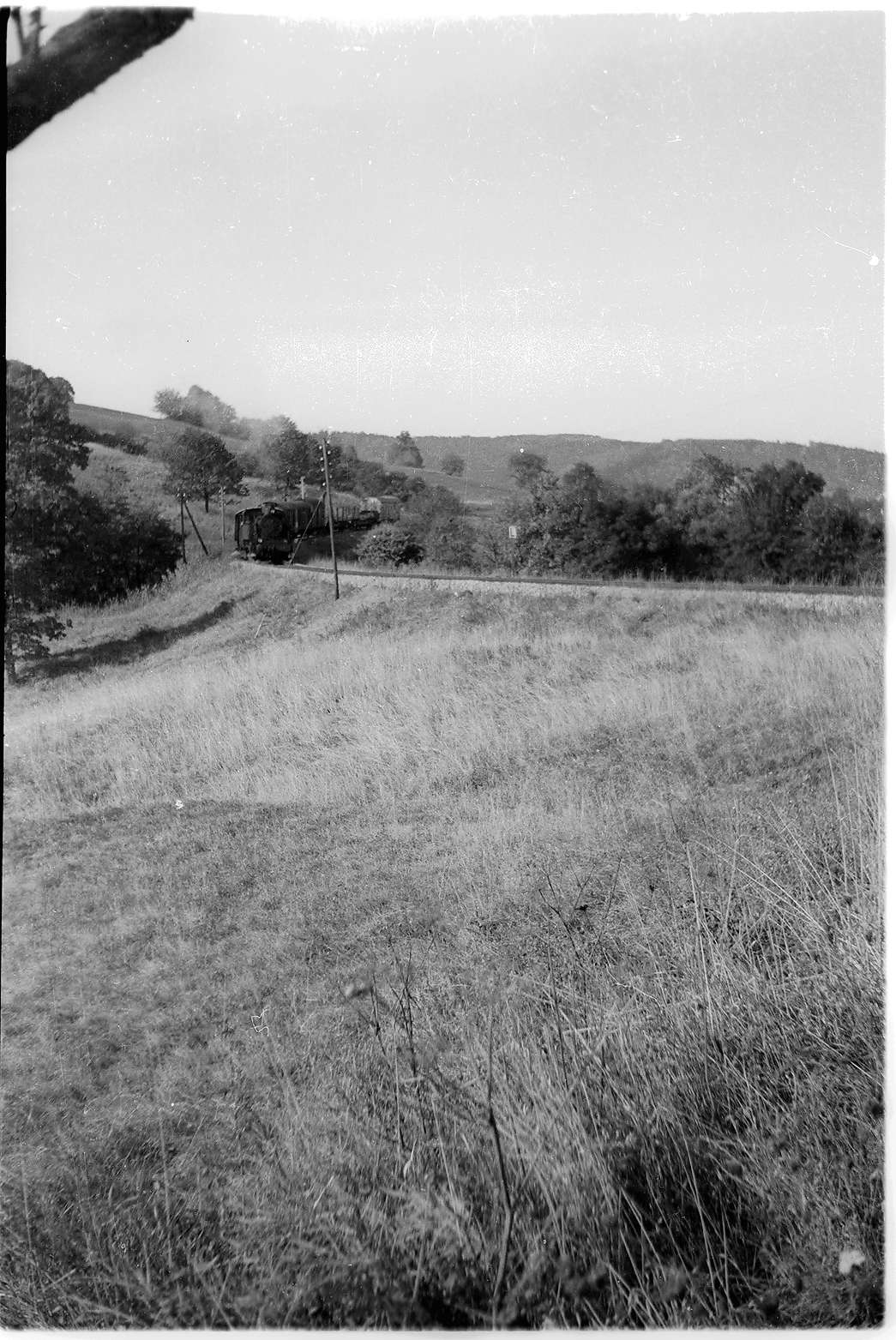 Strecke Jungingen - Killer, 2009 befinden sich hier eine Kläranlage und zahlreiche Büsche, Bild 1