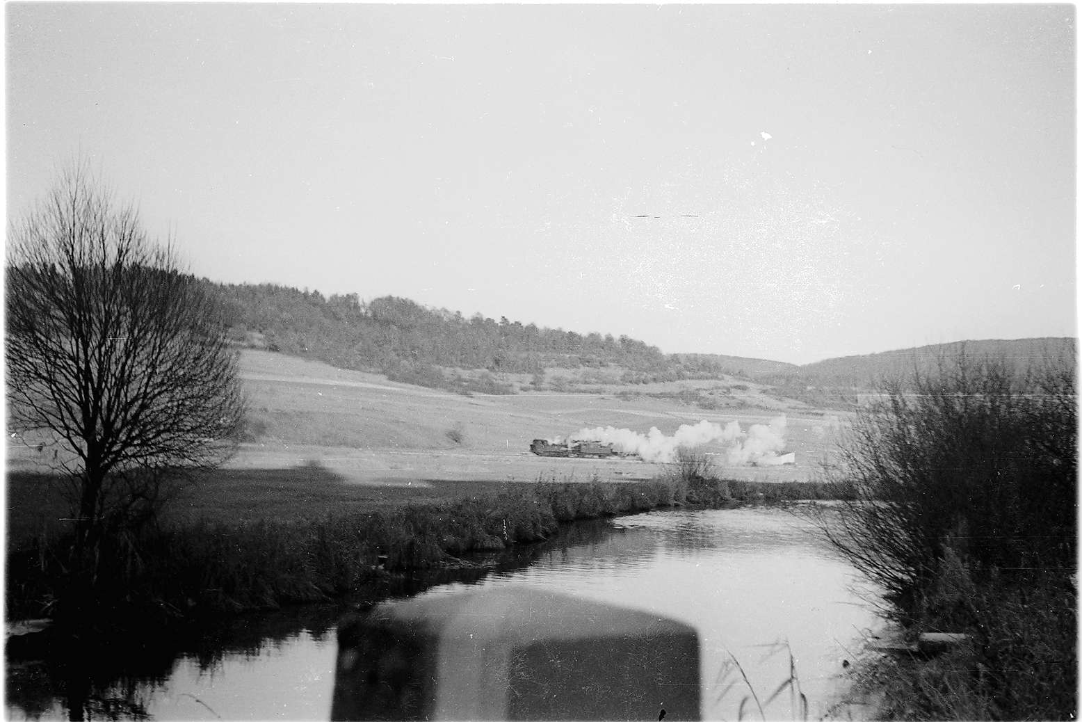 Jungnau, Arbeitszug mit Lok 12 im Laucherttal, Bild 1