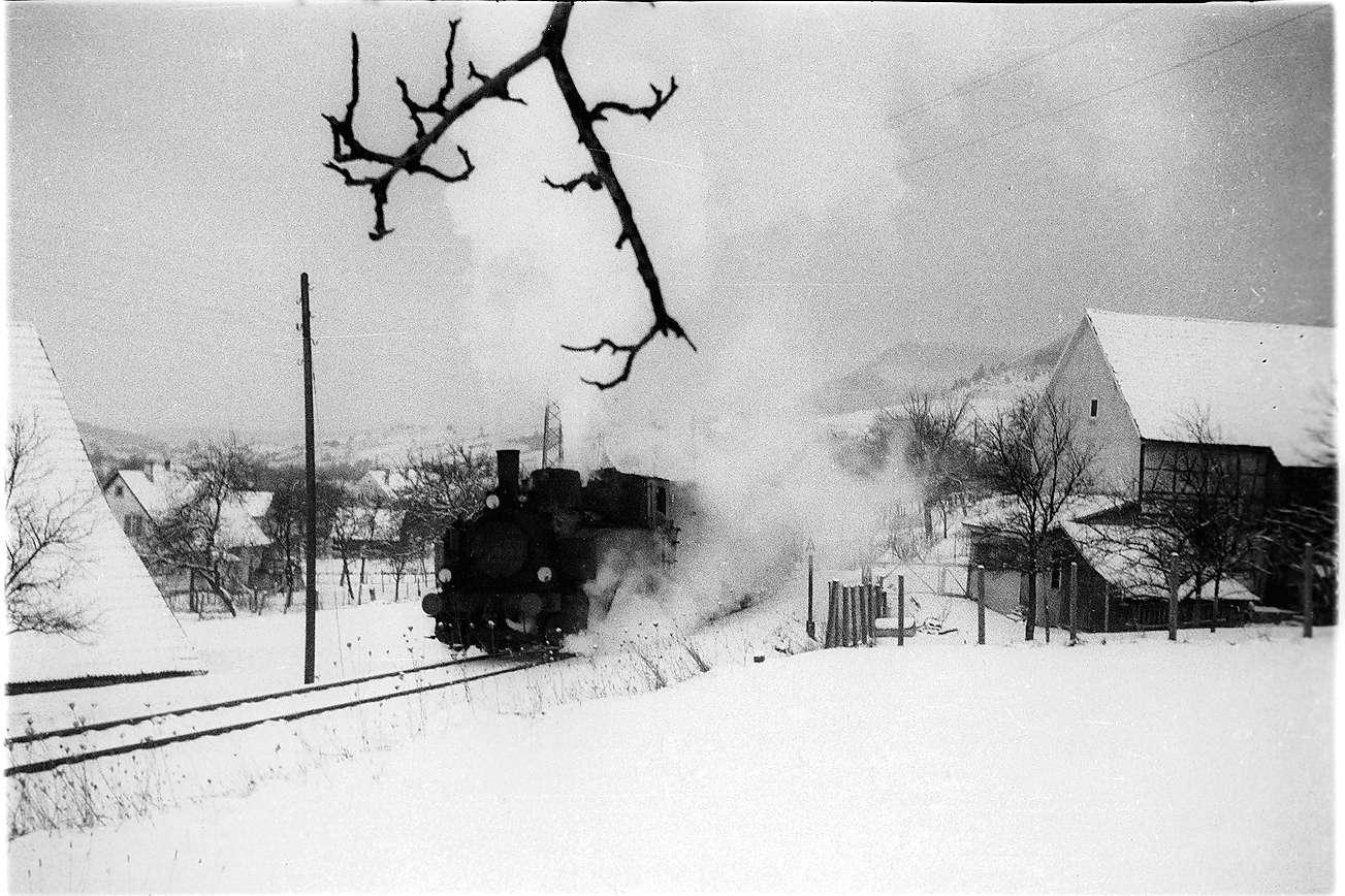 Lok 12 bei Killer, voll ausgelastet mit dem Güterzug 305, Bild 1