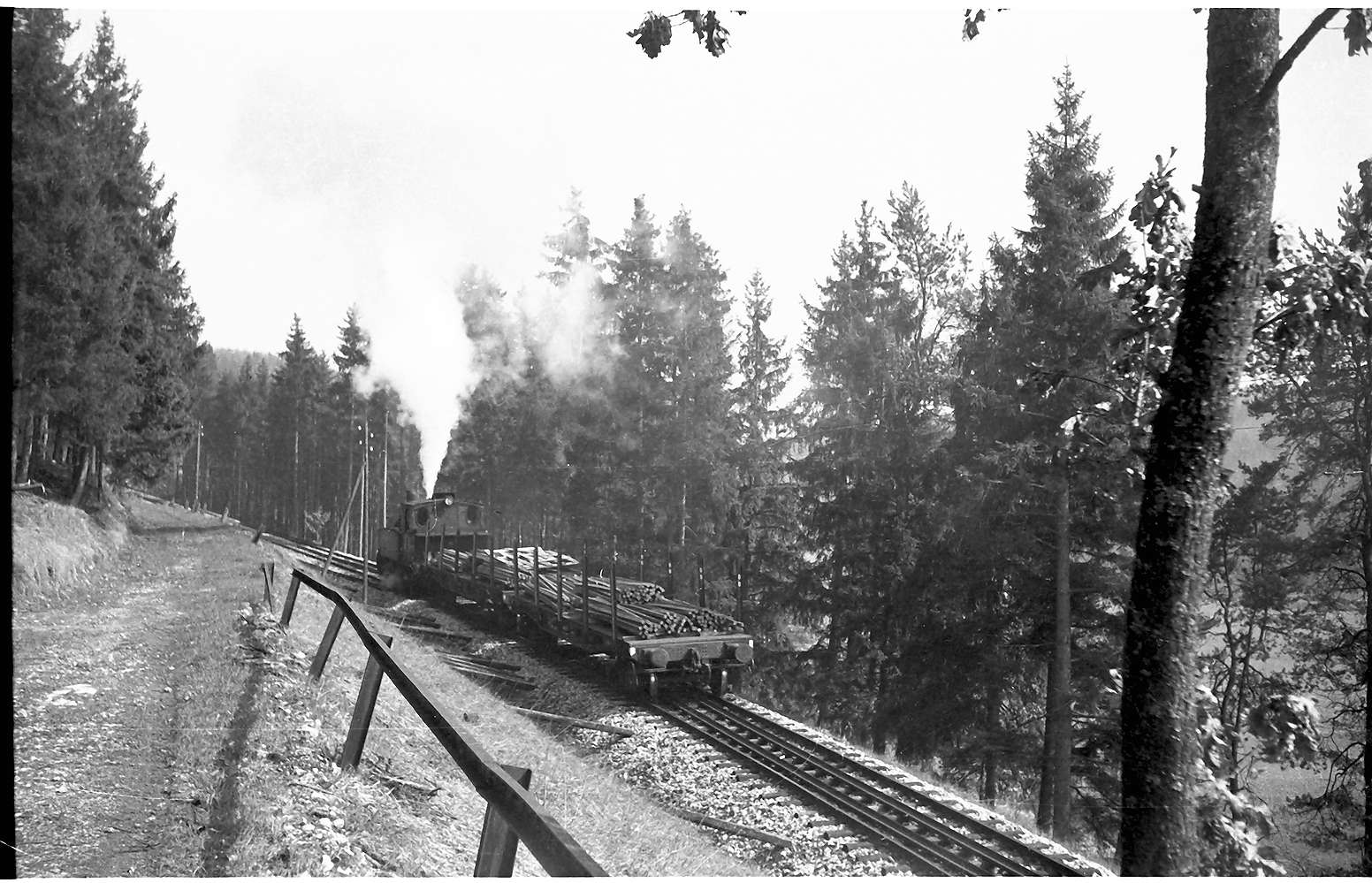 Lok 12, Strecke Gammertingen - Neufra, Steigung 1:40, altes Bahngeländer, Bild 1