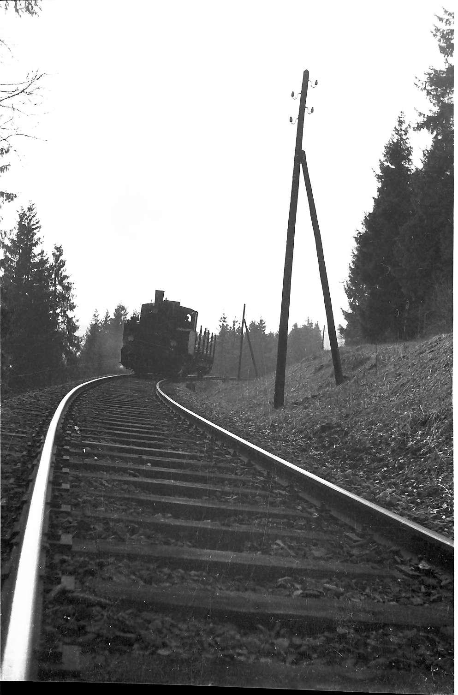 Lok 12, Strecke Gammertingen - Neufra, Schienen-Oberbauform 6, ersetzt 1962 durch Schienenform S49, erneut ausgewechselt 1991, Bild 1