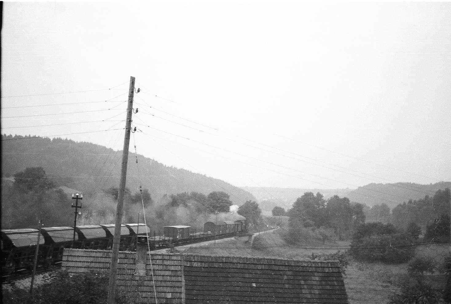 Lok 15 G(St) 313, Veringendorf, Güterzug mit Stückgutbeförderung, Bild 1