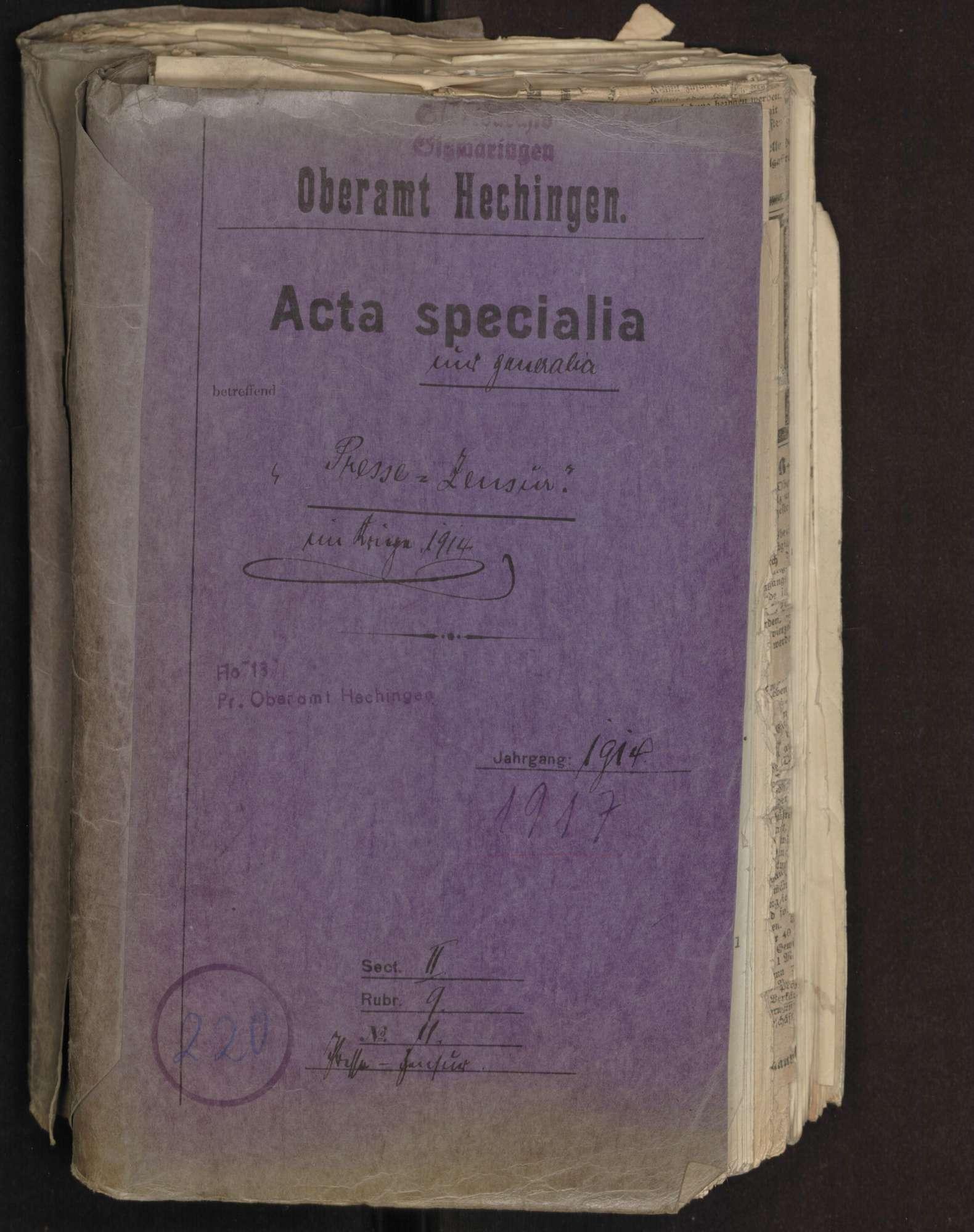 Presse-Zensur im Kriege 1914 - 1918 mit Weisungen für die Presse, Bild 1