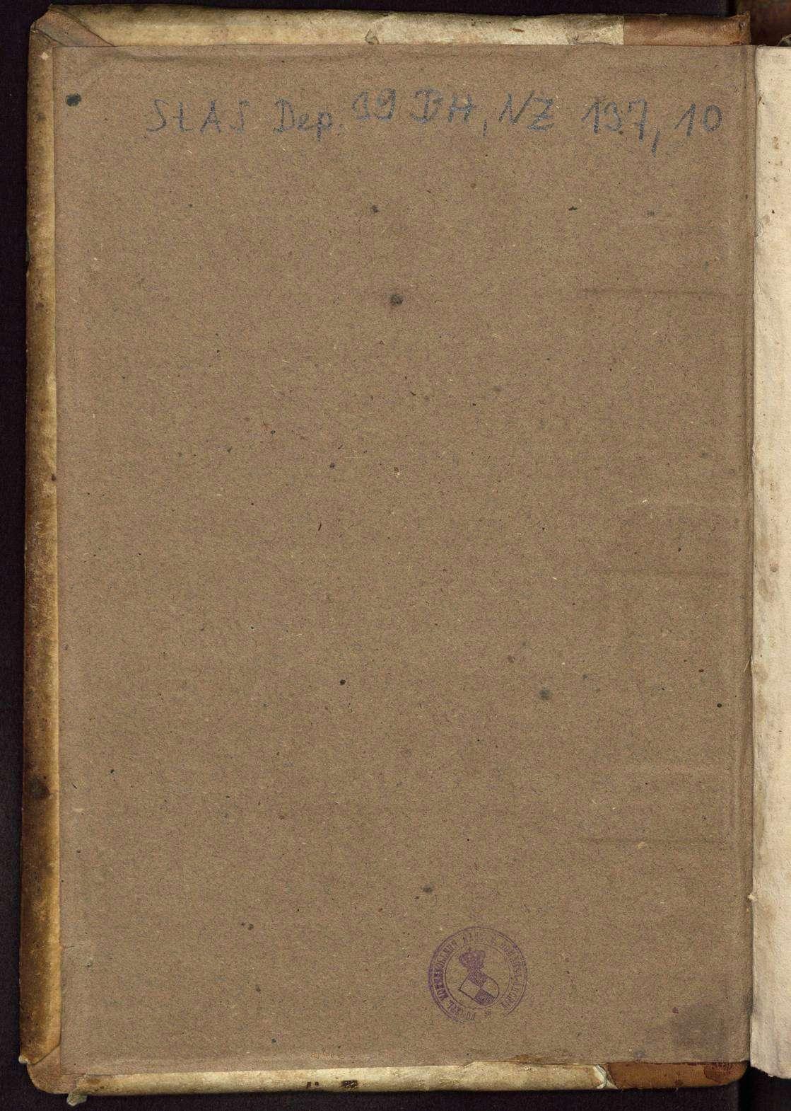 Berthold Hagens Lagerbücher über die einzelnen Orte der Grafschaft Zollern mit Einschluss der Pfarreien, Kaplaneien und Stiftungen in 13 Bänden, Bild 3