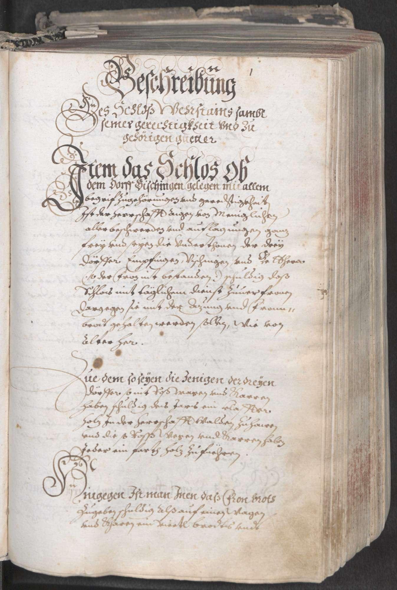 Haigerloch: Herrschaftliches Urbar über die Herrschaft Wehrstein, angefertigt auf Befehl des Grafen [Johann] Christoph zu Hohenzollern-Haigerloch, Bild 3