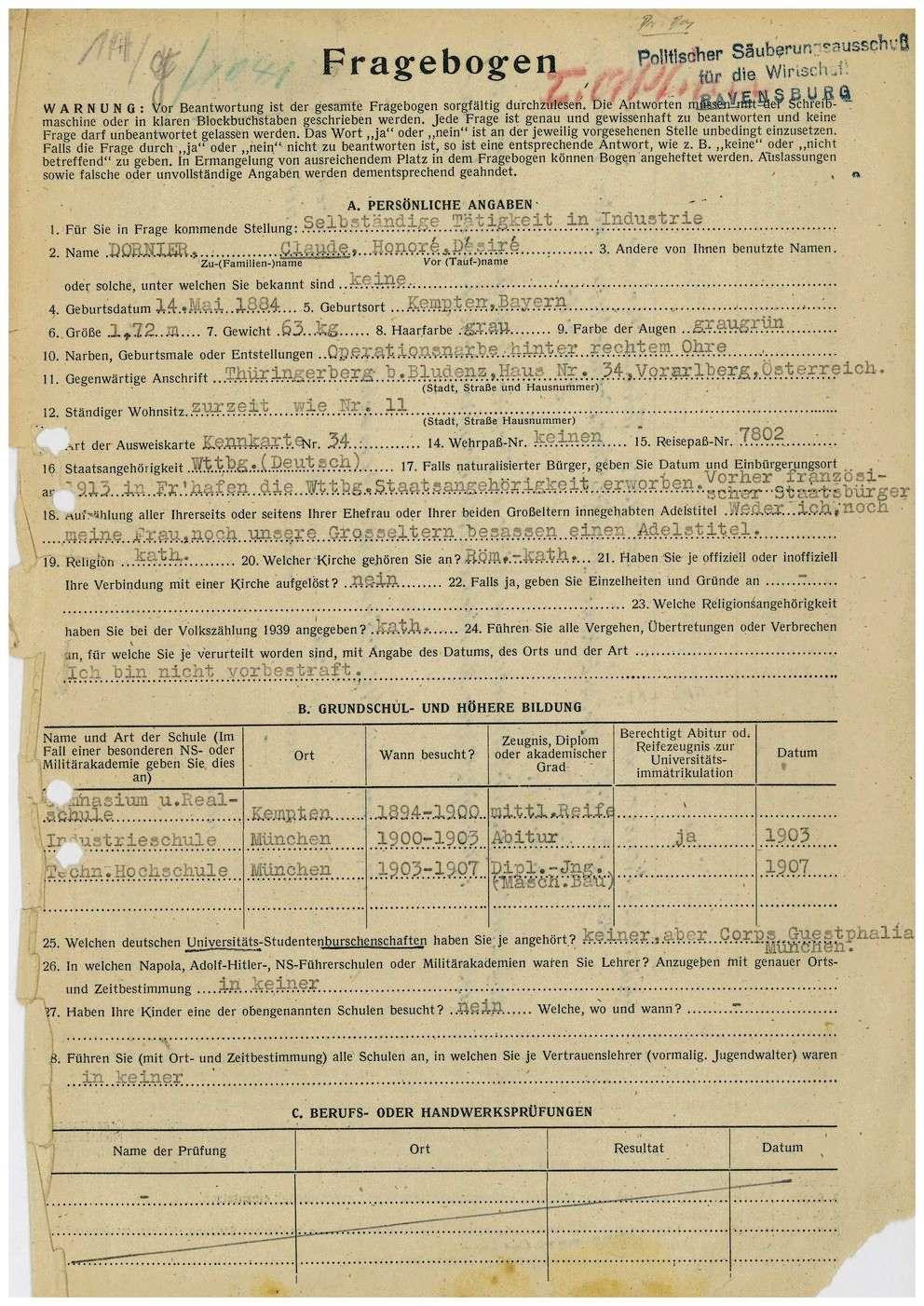 Dornier, Claude Honoré Desiré, Dr., Bild 1