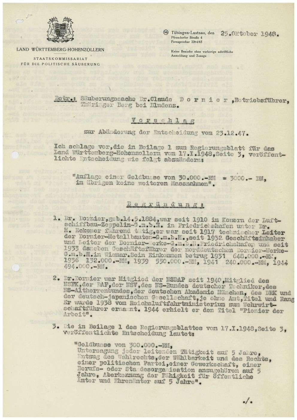 Dornier, Claude, Prof. Dr. Ing., Bild 3