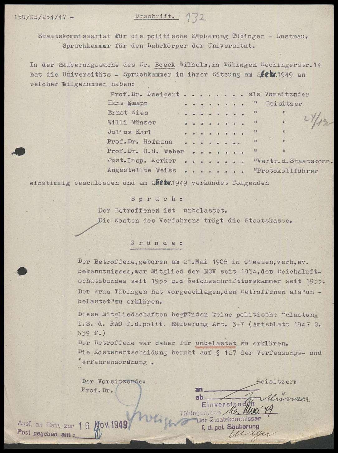 Boeck, Wilhelm, Dr., Bild 1