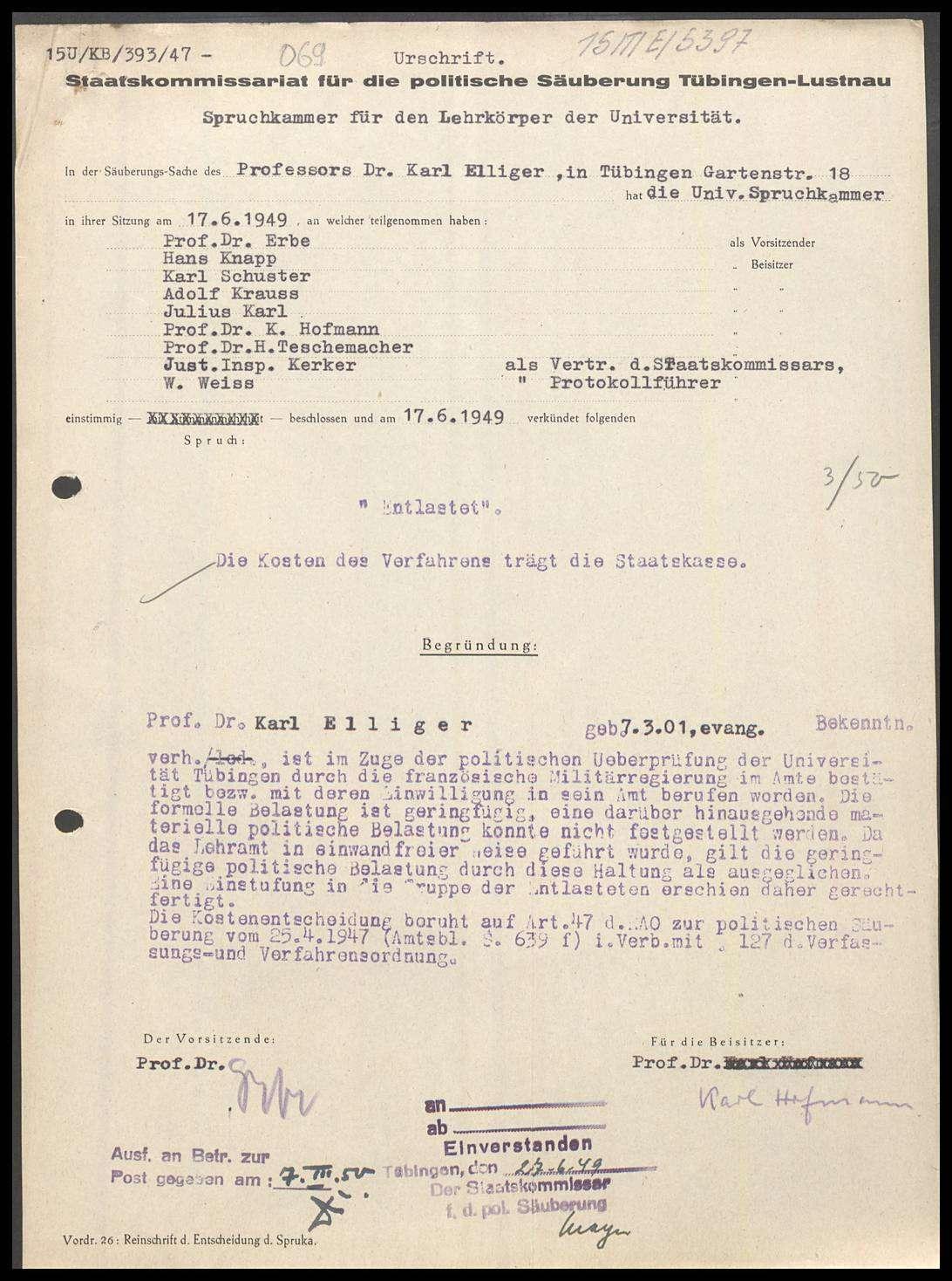 Elliger, Karl, Prof. Dr., Bild 1