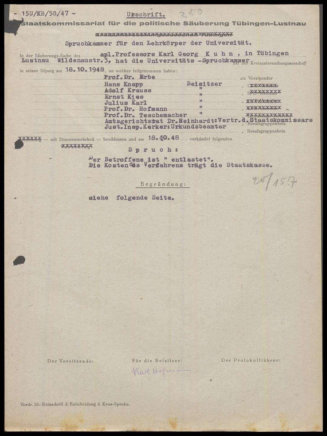 Kuhn, Karl Georg, Prof., Bild 1