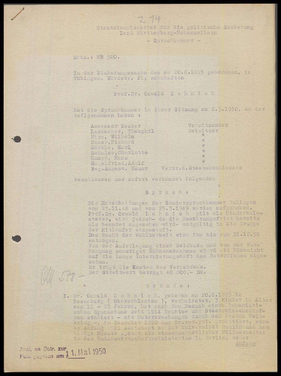 Lehnich, Oswald, Prof. Dr., Bild 1