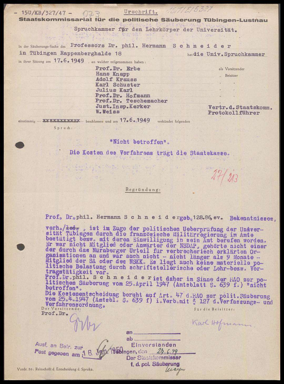 Schneider, Hermann, Prof. Dr. phil., Bild 1