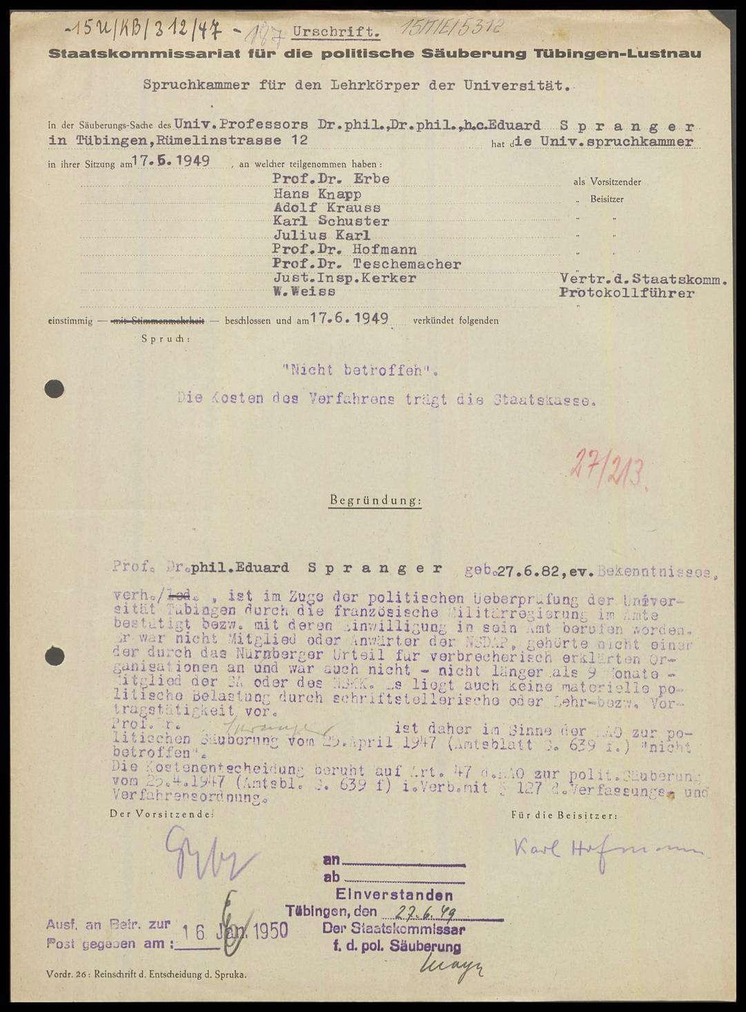 Spranger, Eduard, Prof. Dr. phil., Bild 1