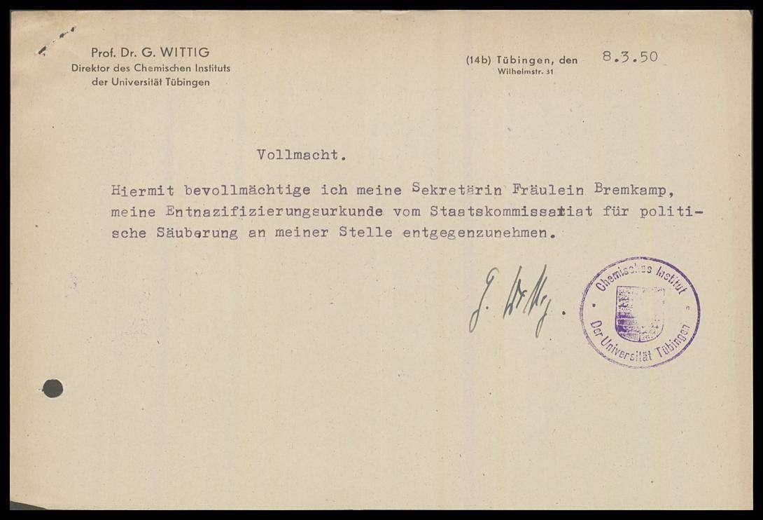 Wittig, Georg, Prof. Dr. phil., Bild 2