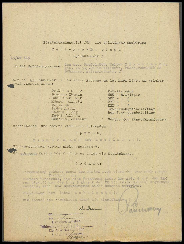 Zimmermann, Walter, Prof., Bild 1