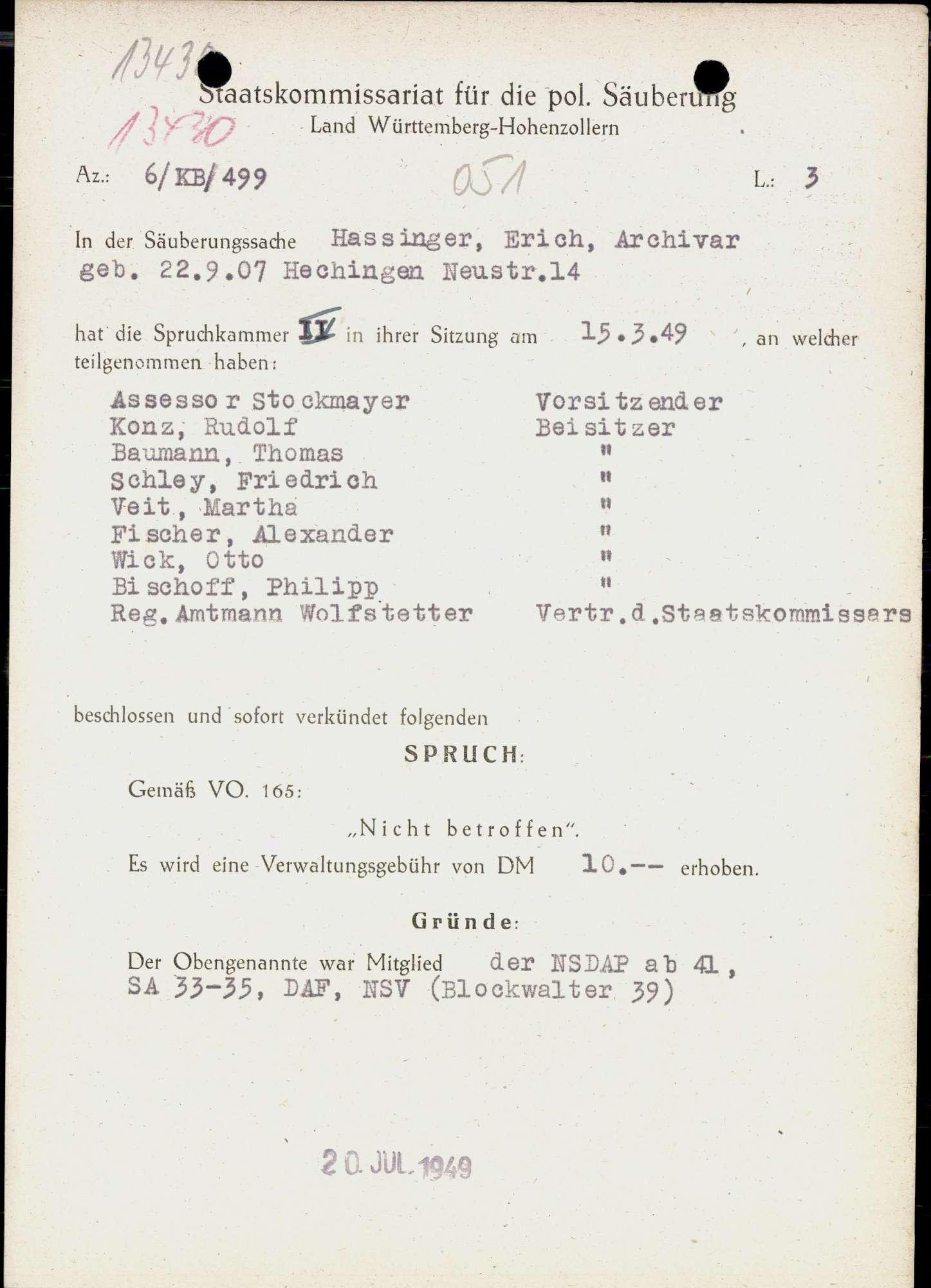 Hassinger, Erich, Bild 1