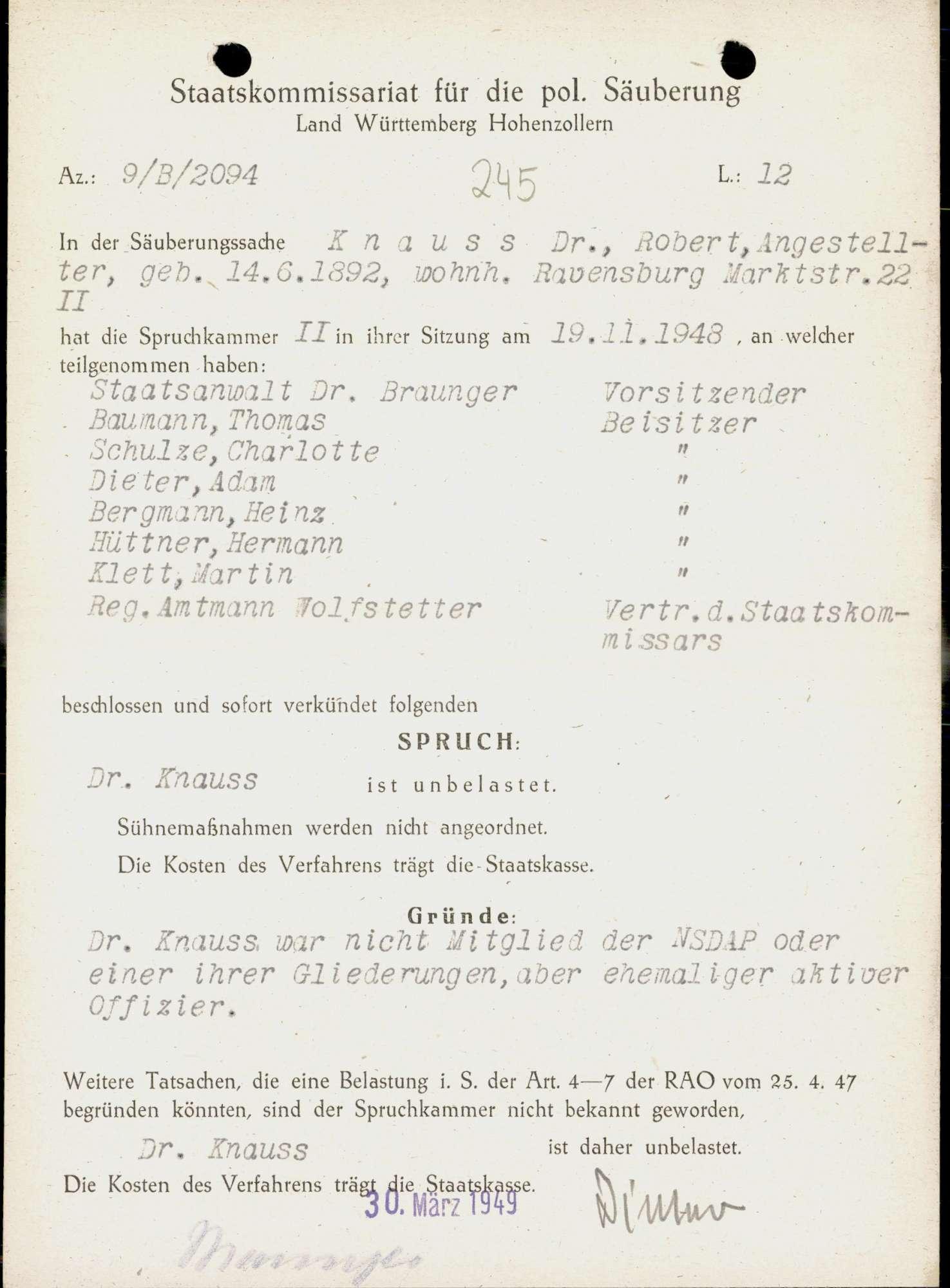 Knauss, Robert, Dr., Bild 1