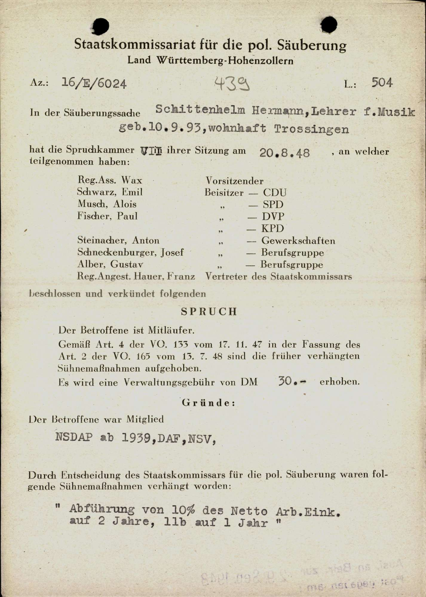 Schittenhelm, Hermann, Bild 1