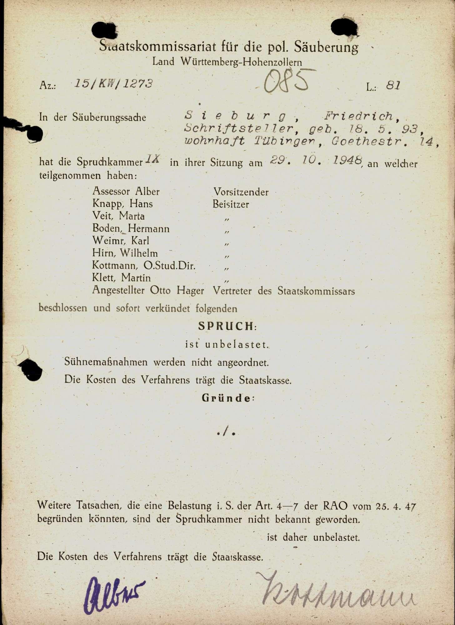 Sieburg, Friedrich, Bild 1