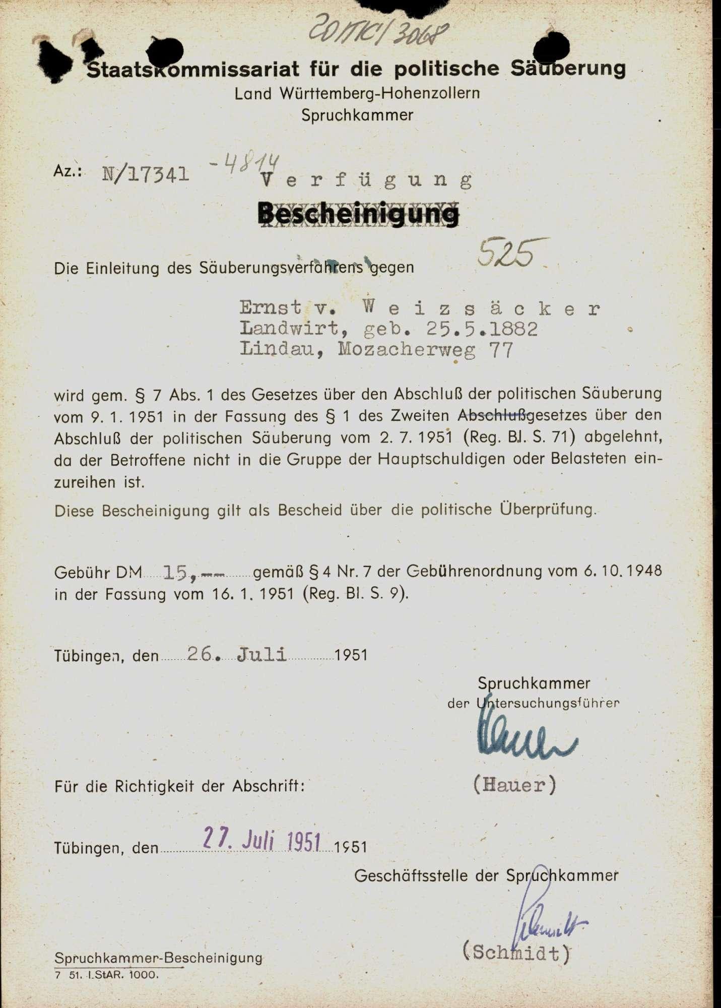 Weizsäcker, Ernst von, Bild 1