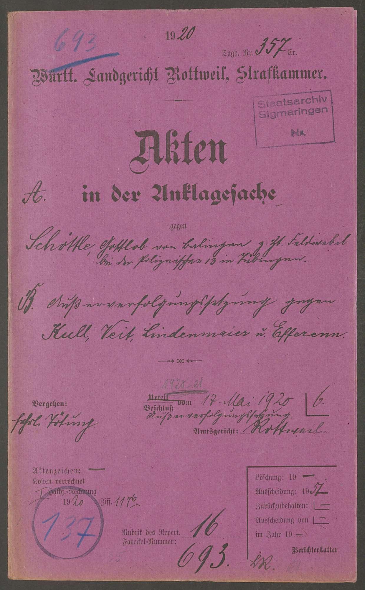 Schöttle, Gottlob, Bild 1