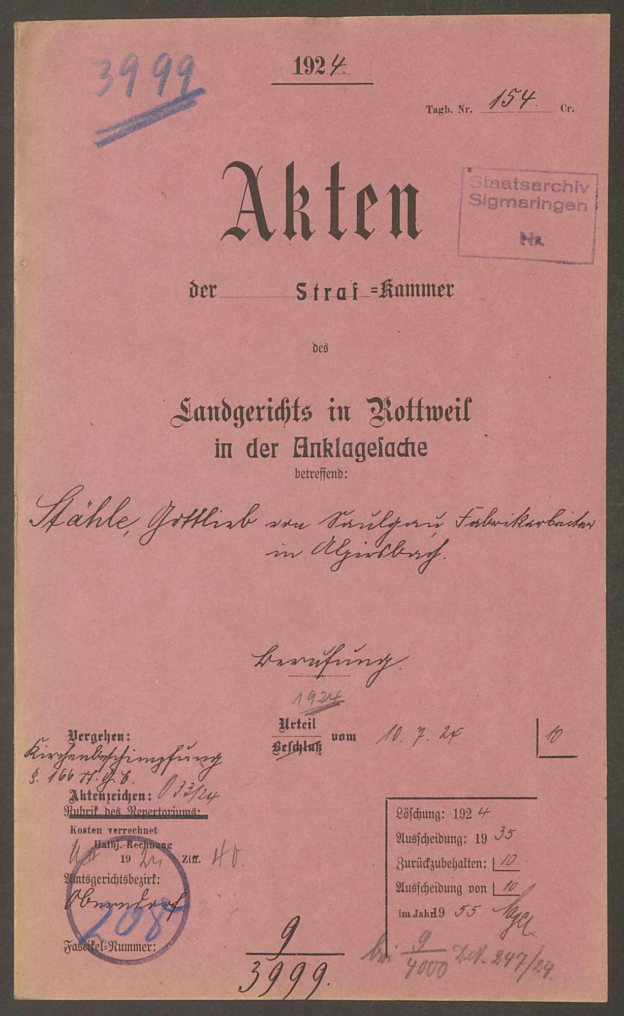 Stähle, Gottlieb, Bild 1